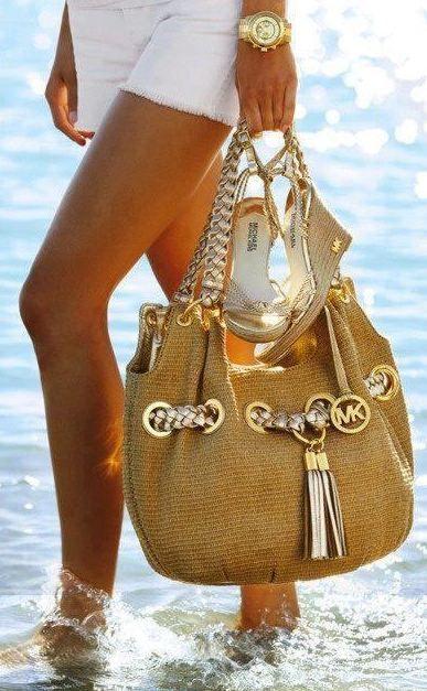Desejo do dia - Acessórios de moda Michael Kors Relógio, mala, sandálias