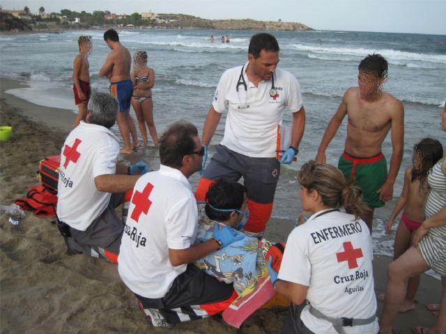 Imagen de archivo de una actuación de los miembros de Cruz Roja Águilas