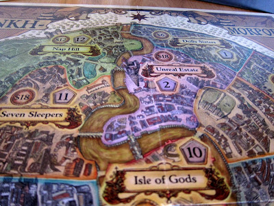 Discworld: Ankh-Morpork - A close up of part of the board