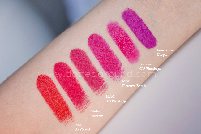 utopia marilyn so chaud lipstick swatch