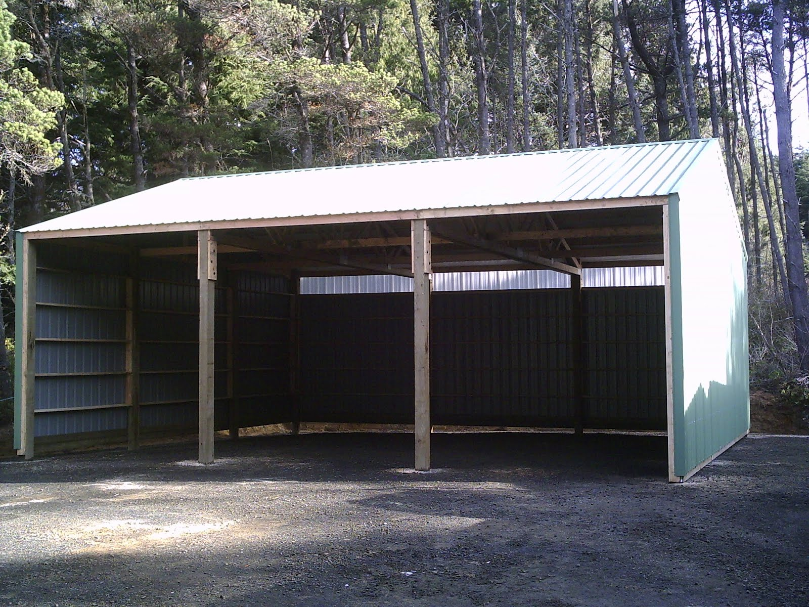 3 Sided Equipment Shed Pictures To Pin On Pinterest