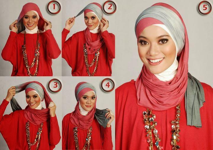 Cara memakai hijab modis