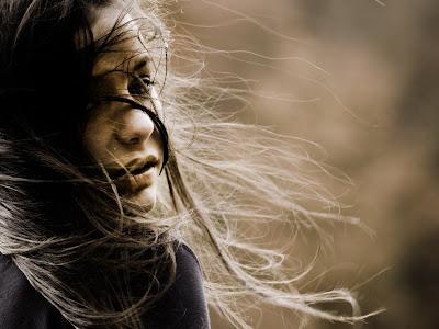 Beautiful Girl Waving Hair HD Desktop Wallpaper
