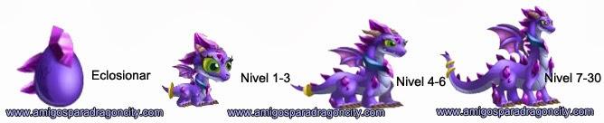 imagen del crecimiento del dragon amatista