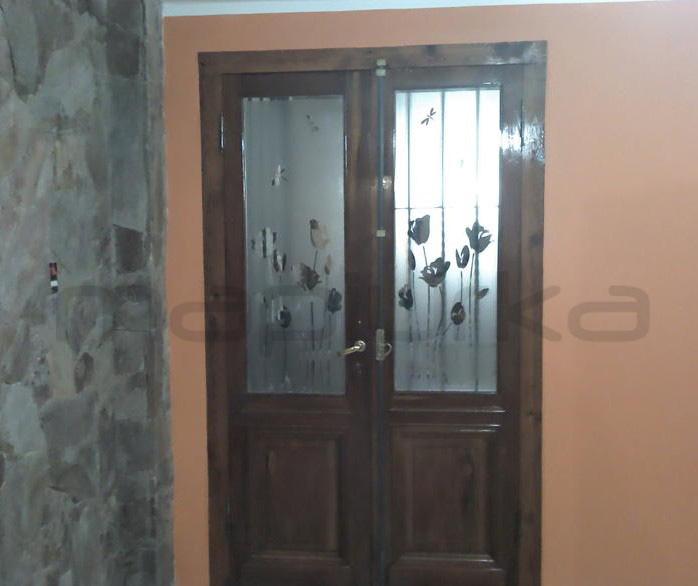 Puertas De Baño Feel: Adhesivos Decorativos BA: Esmerilado personalizado en puerta-ventana