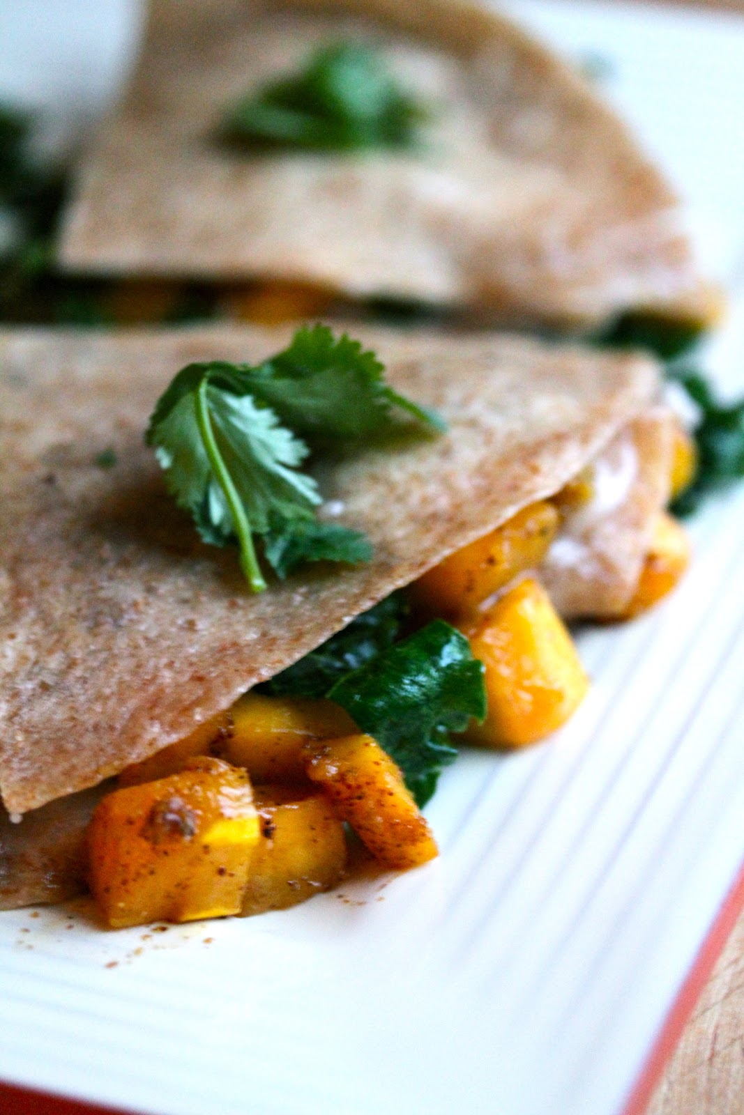 Smith's Vegan Kitchen: Butternut Squash and Kale Quesadillas