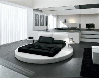 dormitorio matrimonial blanco y negro