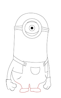 How To Draw Despicable Me Minon Step 8