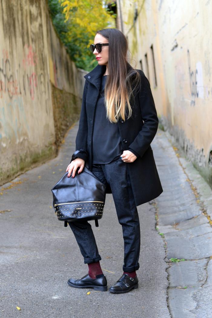 pantaloni velluto nero