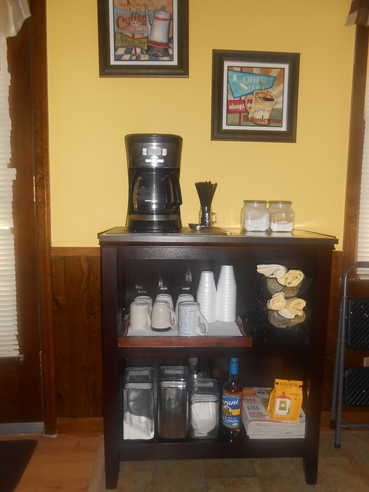 Check it out with dawn make it monday coffee bar for How to build a coffee bar