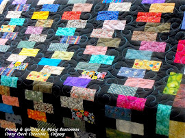 Zipper Quilt - Another great use for scraps.