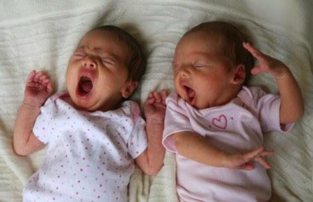 Близнецы зевают