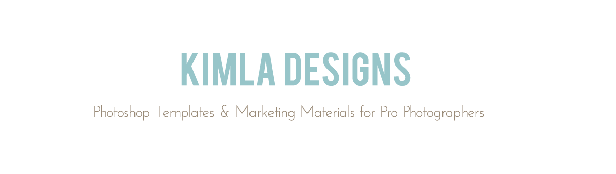 kimla designs | Photoshop Templates for Photographers