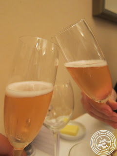 Image of Prosecco at Vasco and Piero's Pavilion Italian restaurant in London, England