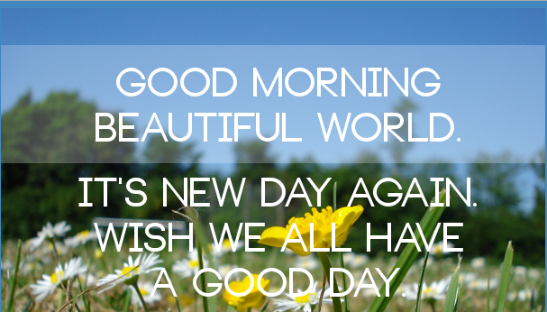Good Morning Beautiful World : Beautiful good morning quotes find