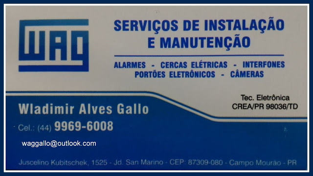 WAG - Instalação e manutenção em sistemas de segurança eletrônica