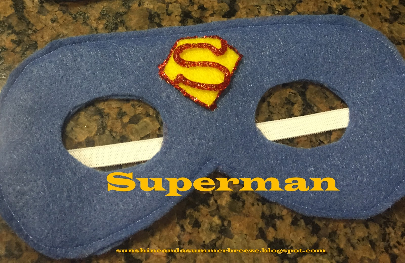 Sunshine And A Summer Breeze Superman And Wonderwoman Felt Mask