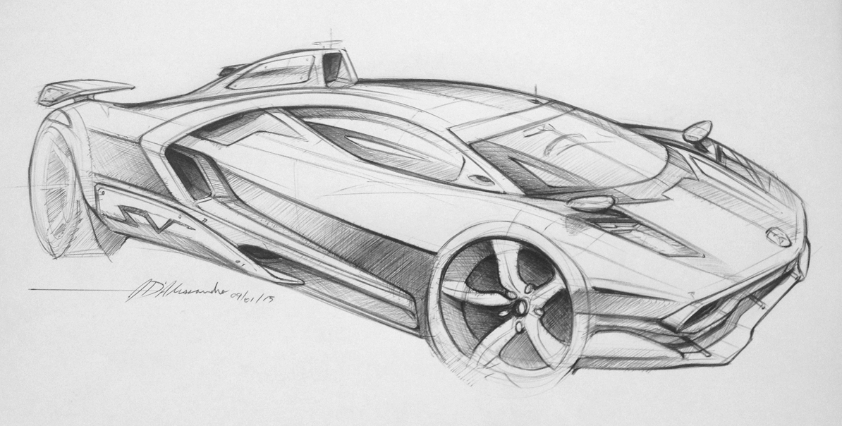 Carta Lamborghini Sketch