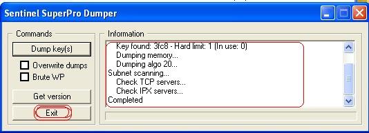 sentinel superpro usb dongle emulator