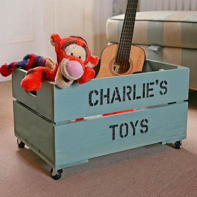 toy crate personalized with child's name