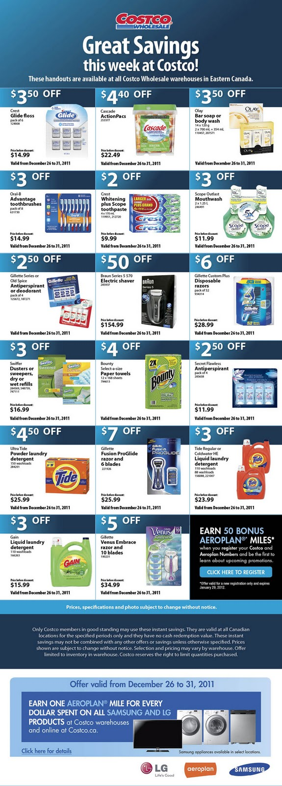 Costco deals of the week calgary