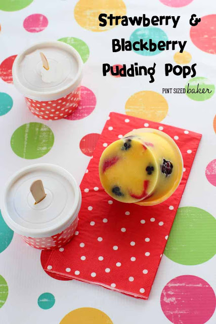 Strawberry and Blackberry Pudding Pops are a delicious way to cool off during the summer heat!