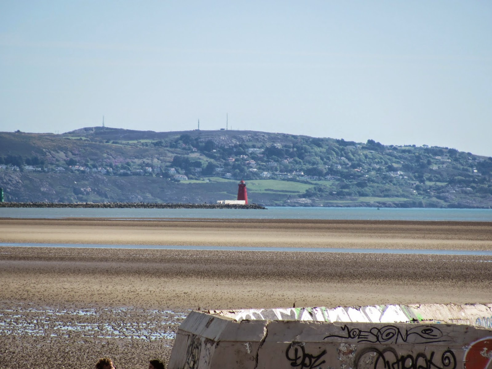Poolbeg Lighthouse from Sandymount Strand Dublin