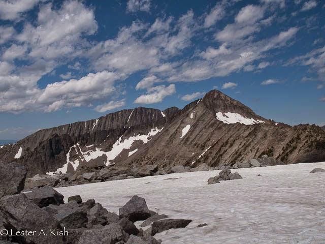 View from Grasshopper Glacier, Crazy Mountains, Montana