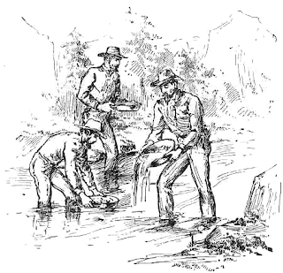 miners gold panning