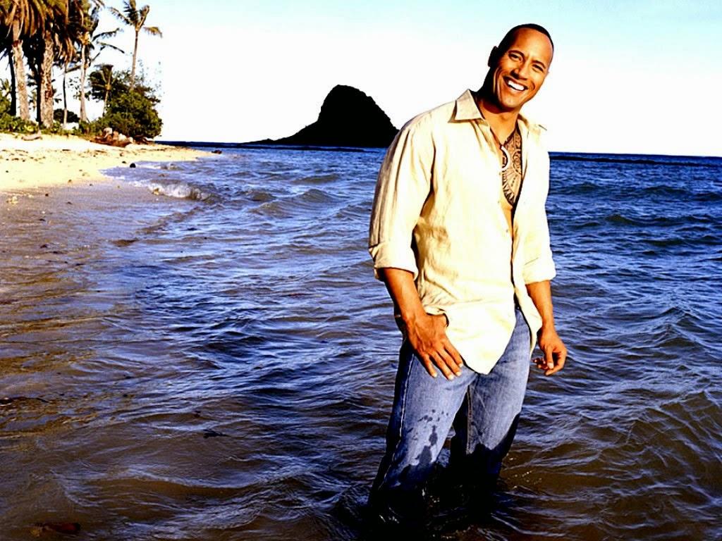 WWE Rock actor in water photos
