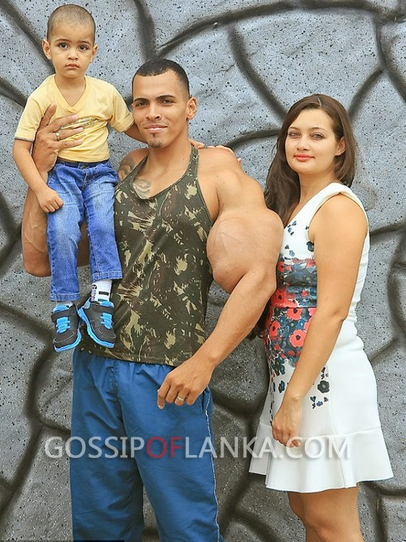 Bodybuilder Romario risks his life by injecting oil and alcohol into his biceps in bid to become real life version of character