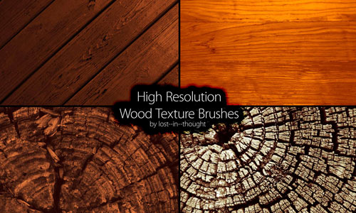 25 Sets of Free Wood Brushes for your Designs