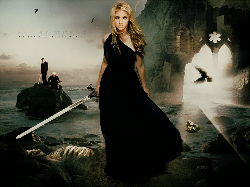 Buffy the Vampre Slayer BVS Logo T Shirt Large - dochsa.com