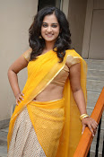 Nanditha raj latest photos in half saree-thumbnail-20