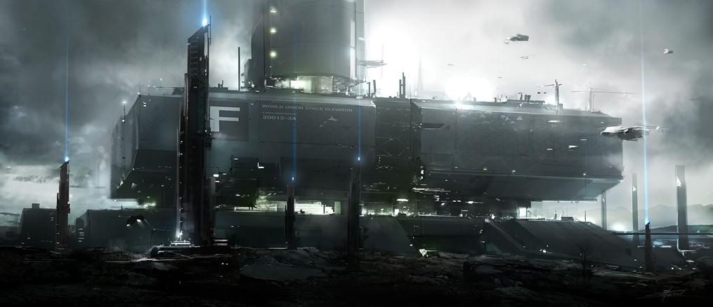 Ilustração de uma futura exploração espacial.
