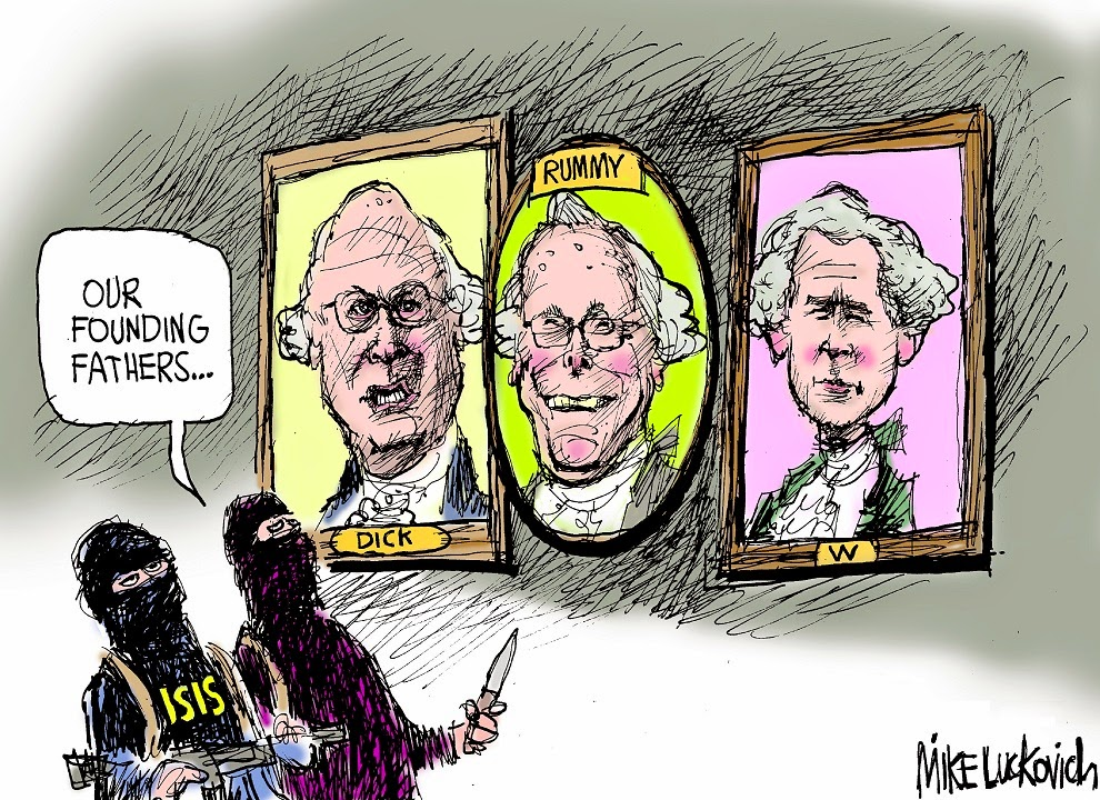 Mike Luckovich: ISIS Founding Fathers.