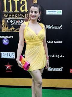 Amisha Patel in Short Dress, Amisha Patel Short Dress Pics, Amisha Patel Green Carpet Pics