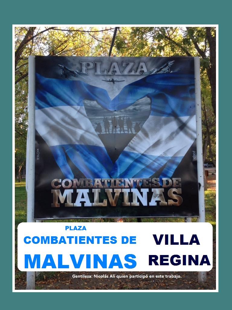 PLAZA COMBATIENTES DE MALVINAS EN VILLA REGINA.