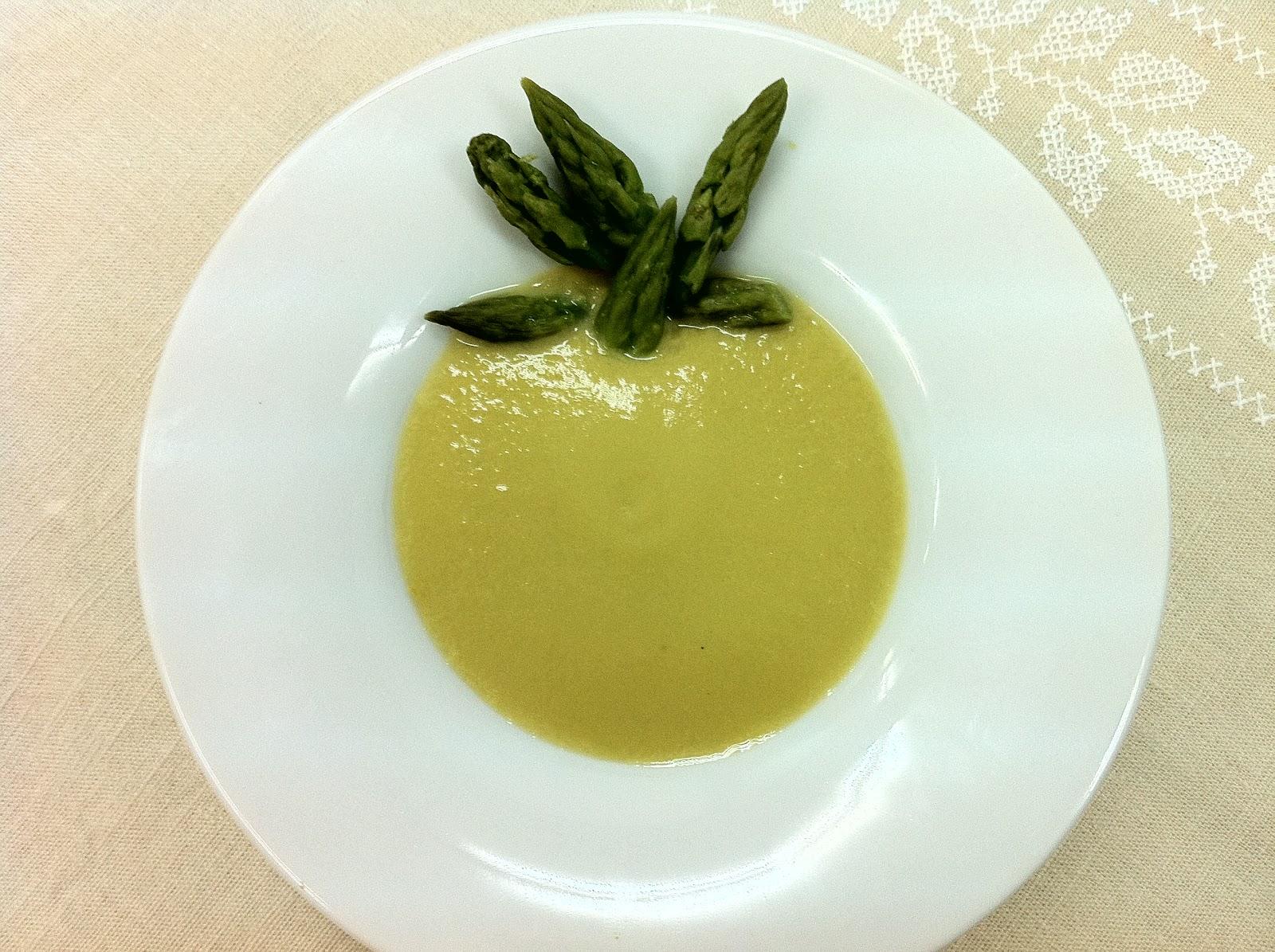 Cocina de nuestro tiempo crema de esp rragos verdes for Cocinar esparragos