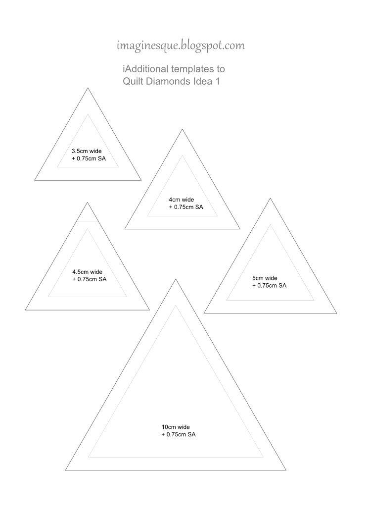 free quilting diamonds patterns and templates
