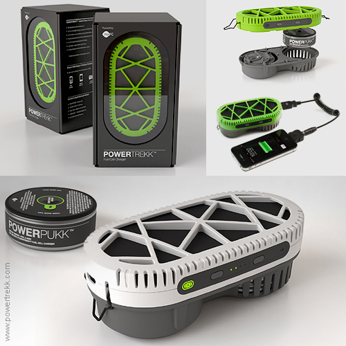 PowerTrekk portable fuel cell charger by myFC