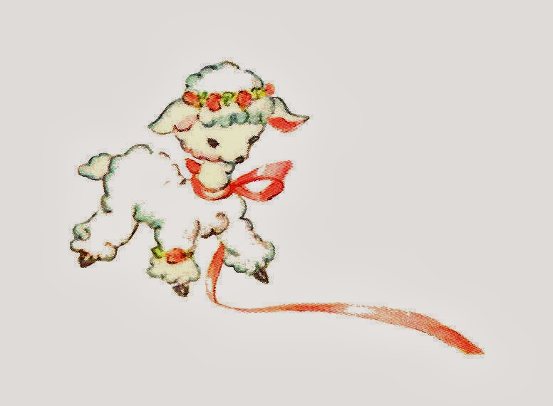 Antique Images: Free Animal Clip Art: 2 Adorable, Lamb Graphics ...