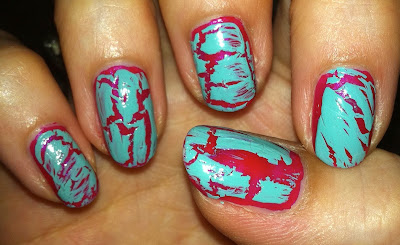 china glaze, nail art, crackle, polish