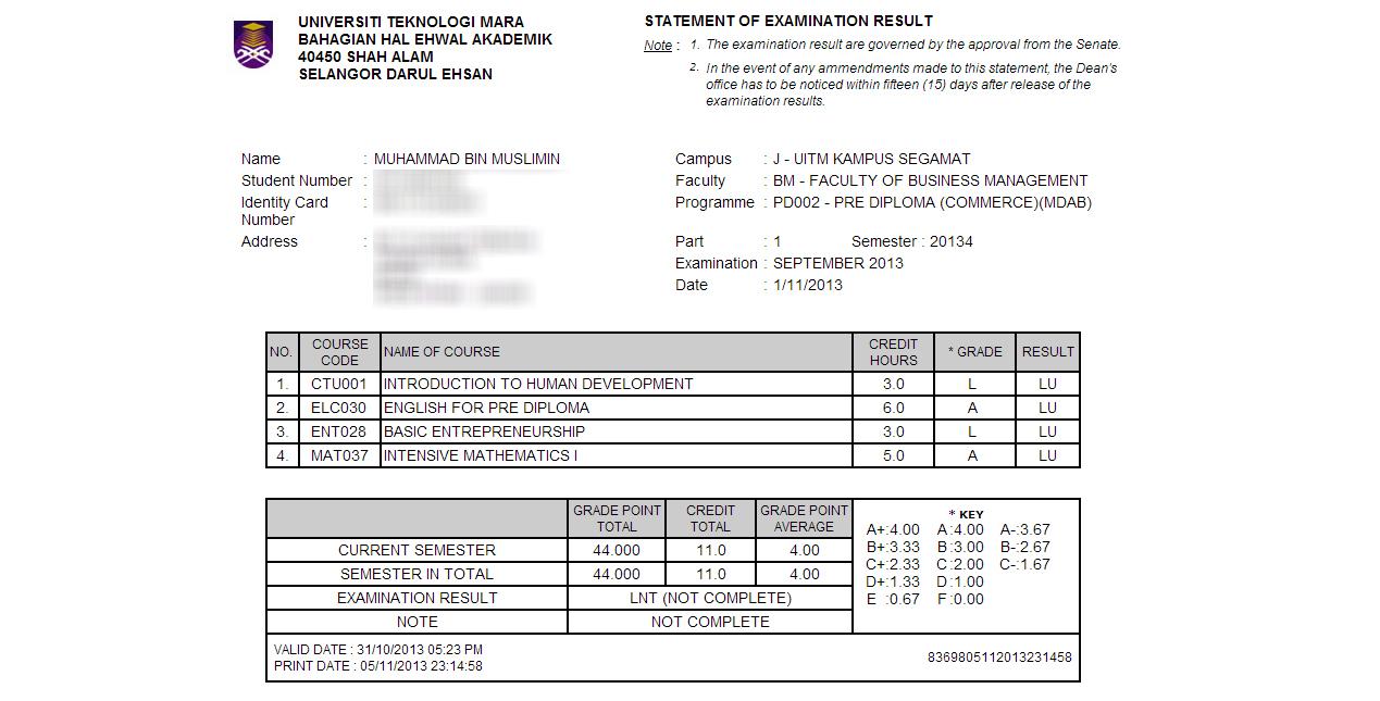 Pra Diploma Perdagangan Mdab Universiti Teknologi Mara