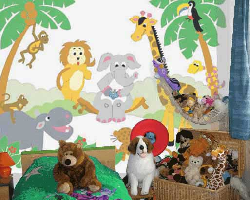 Kids room furniture blog kids rooms painting ideas images for Cartoon mural painting