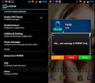 NEW SMS Pop Up for Android dengan X-POPUP