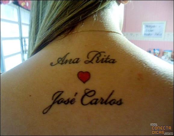 Tatuagens Femininas nas costas com nomes