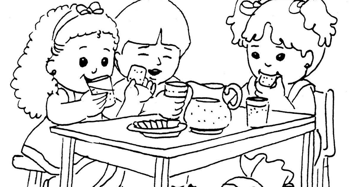 Escola dominical infantil atividade para colorir for Dibujo de comedor escolar