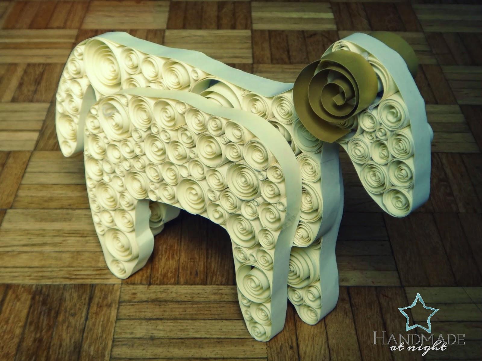 Baranek wielkanocny, jak zrobić baranka z papieru