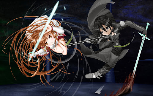 asuna kirito sword art online anime hd wallpaper
